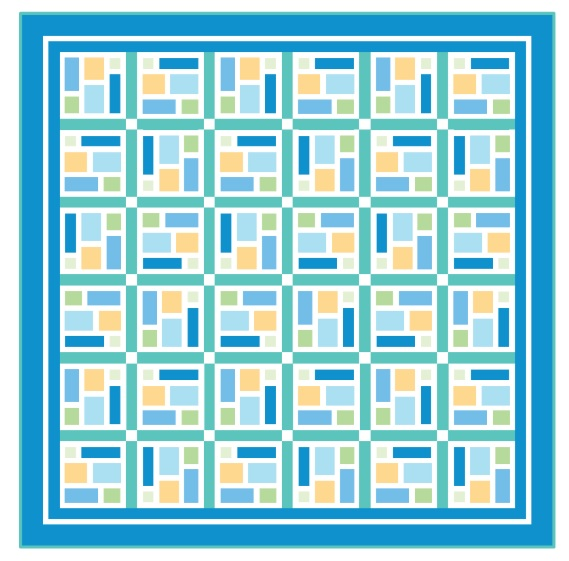 Sea Glass quilt pattern image